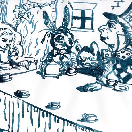 (CreativeWork) A Mad Tea Party by Fiona Lohrbaecher. Drawings. Shop online at Bluethumb.