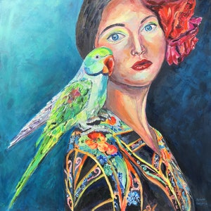 (CreativeWork) Polly's Date Night by Patrycja Whipp. arcylic-painting. Shop online at Bluethumb.