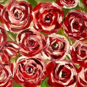 (CreativeWork) Happiness is Red by Mitra Torki. arcylic-painting. Shop online at Bluethumb.
