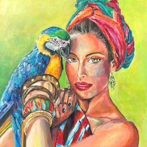 (CreativeWork) The Girl From Ipanema by Patrycja Whipp. arcylic-painting. Shop online at Bluethumb.