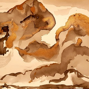 (CreativeWork) Megalong Valley by Rob Maxwell. watercolour. Shop online at Bluethumb.