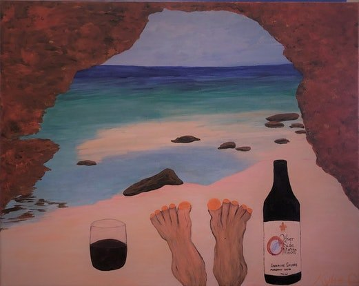 (CreativeWork) Feet around Aus, The Bluff, Red Bluff, WA by Kylie Chambers. #<Filter:0x000056332721b078>. Shop online at Bluethumb.