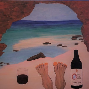(CreativeWork) Feet around Aus, The Bluff, Red Bluff, WA by Kylie Chambers. arcylic-painting. Shop online at Bluethumb.