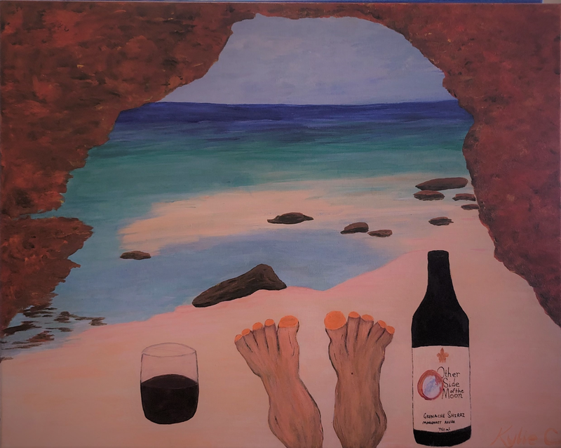(CreativeWork) Feet around Aus, The Bluff, Red Bluff, WA by Kylie Chambers. acrylic-painting. Shop online at Bluethumb.