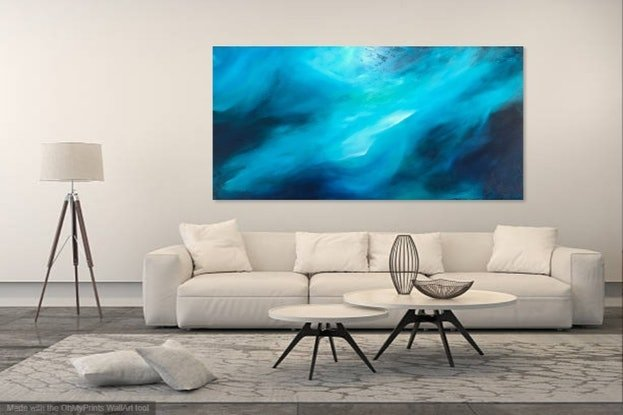 (CreativeWork) Hypnotic Valley (large scale 1.8 meter) by Kat Las. Acrylic. Shop online at Bluethumb.