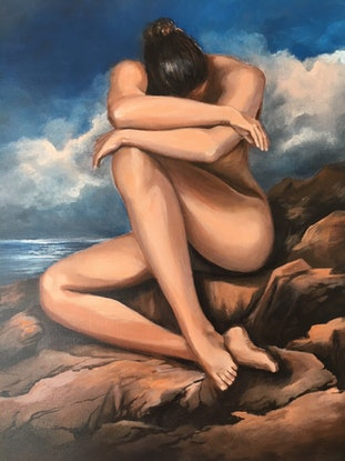 (CreativeWork) Naked by Kathryn Johnston. Acrylic Paint. Shop online at Bluethumb.