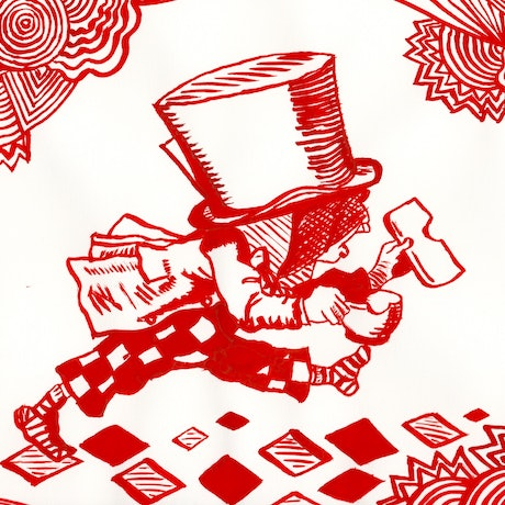 (CreativeWork) Mad Hatter on Trial by Fiona Lohrbaecher. Drawings. Shop online at Bluethumb.