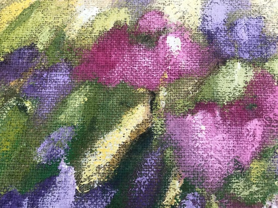 (CreativeWork) Wildflowers   by Leanne Manns. Acrylic Paint. Shop online at Bluethumb.