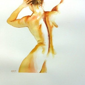 (CreativeWork) Barely There #3 - Original Watercolour Painting by Pauline Adair. #<Filter:0x00007f92d82b9f40>. Shop online at Bluethumb.