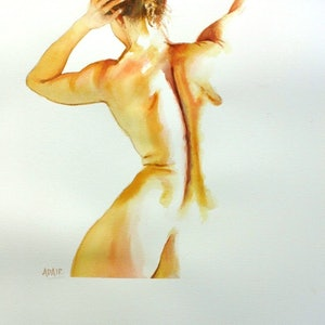 (CreativeWork) Barely There #3 - Original Watercolour Painting by Pauline Adair. watercolour. Shop online at Bluethumb.