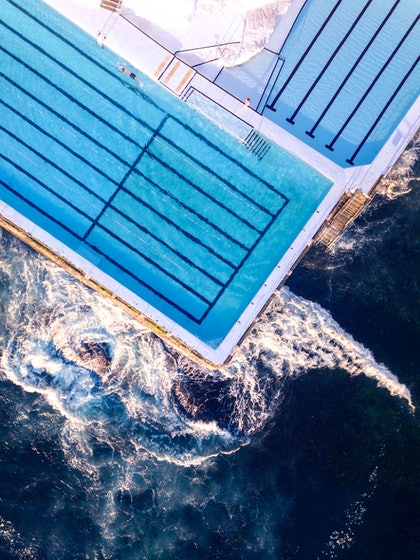 (CreativeWork) Bondi Icebergs by Ali Diab. photograph. Shop online at Bluethumb.
