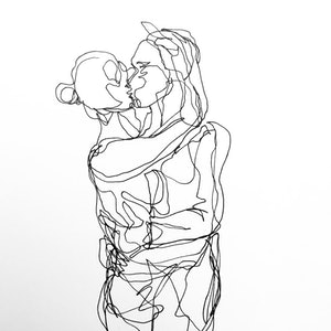 (CreativeWork) Don't Let Go - Hold me, kiss me - Original drawing by Irma Calabrese. drawing. Shop online at Bluethumb.
