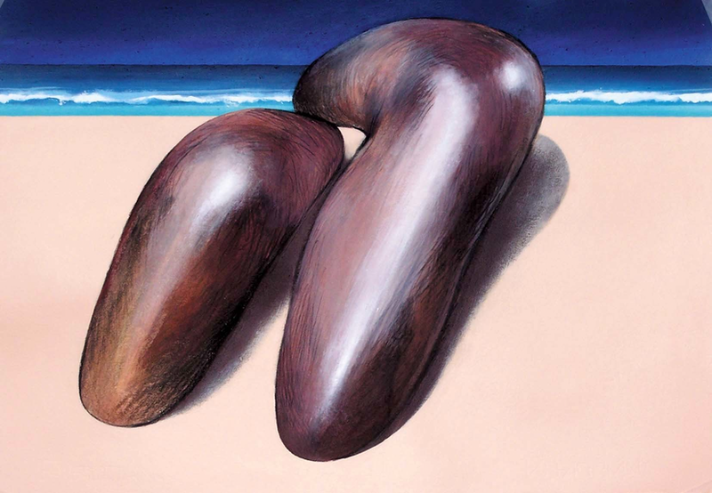 (CreativeWork) Another beach by Geoff Coleman. arcylic-painting. Shop online at Bluethumb.