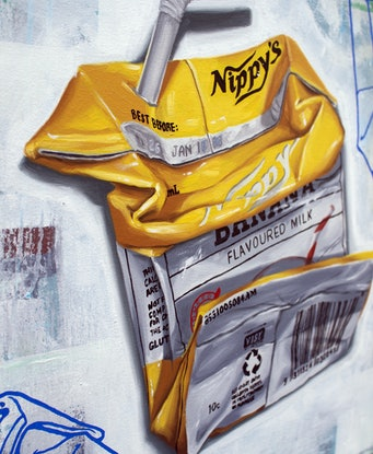 (CreativeWork) Milk by Hugo Mathias. Oil Paint. Shop online at Bluethumb.