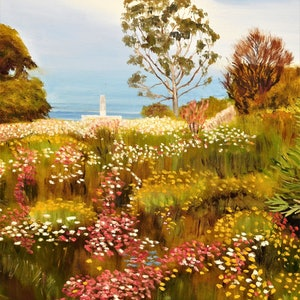 (CreativeWork) Kings Park  WA  2018 by Robin Tunnicliffe. oil-painting. Shop online at Bluethumb.