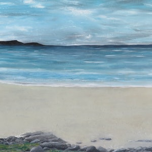 (CreativeWork) Solitude beach  by Fiona Farrugia. acrylic-painting. Shop online at Bluethumb.