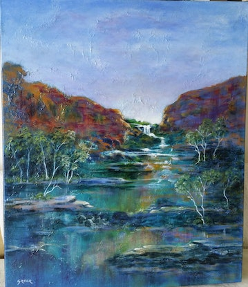 (CreativeWork) Transition by Greer Roberts. Acrylic Paint. Shop online at Bluethumb.