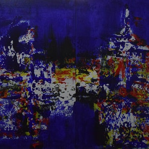 (CreativeWork) Confluence or Separation by Ric Connors. arcylic-painting. Shop online at Bluethumb.