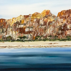 (CreativeWork) Beautiful Freycinet NP Tasmania by Julie Dynan. arcylic-painting. Shop online at Bluethumb.