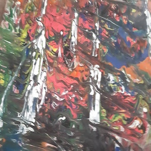 (CreativeWork) Falling by Julie Cutts. arcylic-painting. Shop online at Bluethumb.