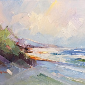 (CreativeWork) Seascape study #6 by Liliana Gigovic. oil-painting. Shop online at Bluethumb.