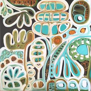 (CreativeWork) Hook Reef by Sarah Morrow. arcylic-painting. Shop online at Bluethumb.
