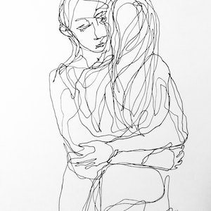 (CreativeWork) Don't Let Go - Stay with me by Irma Calabrese. drawing. Shop online at Bluethumb.