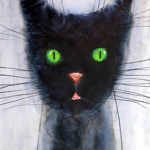 (CreativeWork) Cat 3 by John Graham. mixed-media. Shop online at Bluethumb.
