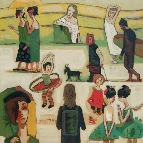 (CreativeWork) Made Up Stories by Tetyana Khytko. Oil Paint. Shop online at Bluethumb.