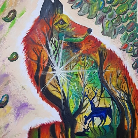 (CreativeWork) **PRICE REDUCED*** - Wilderness by Anjana Varma. Oil Paint. Shop online at Bluethumb.