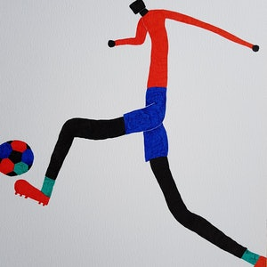 (CreativeWork) Soccer by Yiwei Shi. drawing. Shop online at Bluethumb.