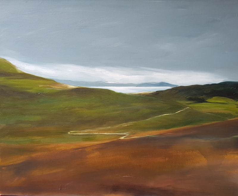 (CreativeWork) The path by Alicia Douglas. Oil Paint. Shop online at Bluethumb.