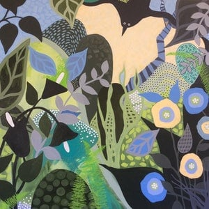 (CreativeWork) Garden Party 1 by Diane McDonald. arcylic-painting. Shop online at Bluethumb.