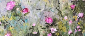 (CreativeWork) PINK POSY by Ethne Benn. mixed-media. Shop online at Bluethumb.