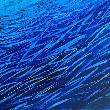 (CreativeWork) Fish Frenzy by David Clare. Acrylic Paint. Shop online at Bluethumb.