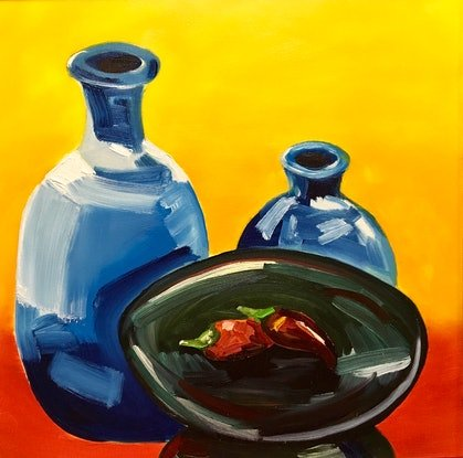 (CreativeWork) Hot Chilli by Meredith Howse. Oil Paint. Shop online at Bluethumb.