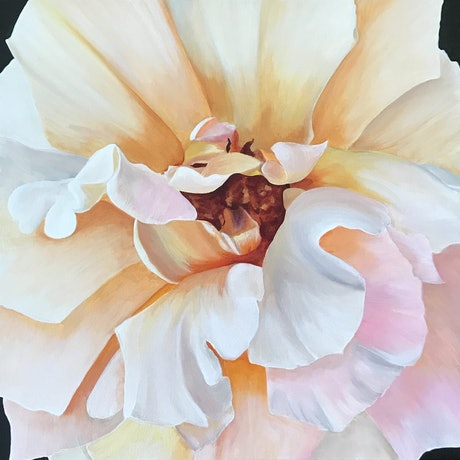 (CreativeWork) Stop and smell the roses (Price adjusted) by Hayley Kruger. Acrylic Paint. Shop online at Bluethumb.