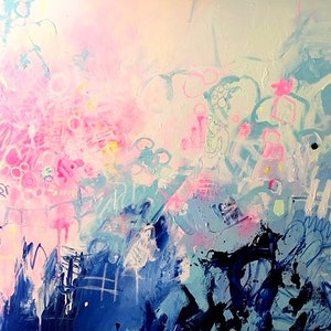 (CreativeWork) 'A Little Bit of Disco' by LOU SHELDON. mixed-media. Shop online at Bluethumb.