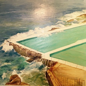 (CreativeWork) BONDI ICEBERG by toto Alay. oil-painting. Shop online at Bluethumb.