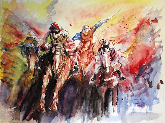 (CreativeWork) The Winner is. by Gerard Mignot. Watercolour Paint. Shop online at Bluethumb.