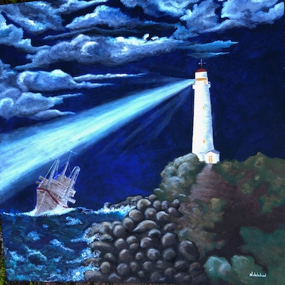 (CreativeWork) GUIDING LIGHT by NICOLE NICHOLSON. Oil Paint. Shop online at Bluethumb.