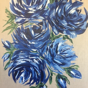 (CreativeWork) Simplicity II by Theresa Rule. arcylic-painting. Shop online at Bluethumb.