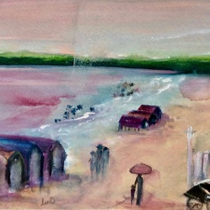 (CreativeWork) Yesterday by Louise Croese. watercolour. Shop online at Bluethumb.
