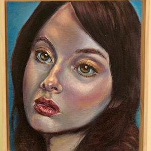(CreativeWork) From another time (Framed) by Carli Wilson. oil-painting. Shop online at Bluethumb.