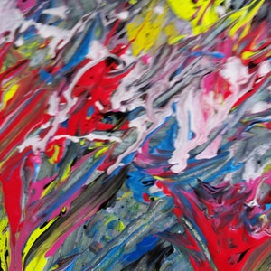 (CreativeWork) fireworks by Julie Cutts. arcylic-painting. Shop online at Bluethumb.