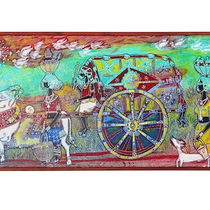 (CreativeWork) Indian Cultural  by P. AUGUSTINE ANNADURAI. arcylic-painting. Shop online at Bluethumb.