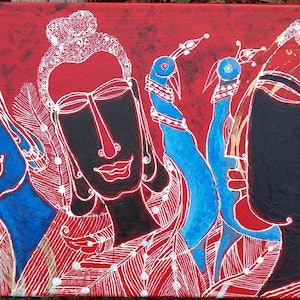 (CreativeWork) Lord Budha by P. AUGUSTINE ANNADURAI. arcylic-painting. Shop online at Bluethumb.