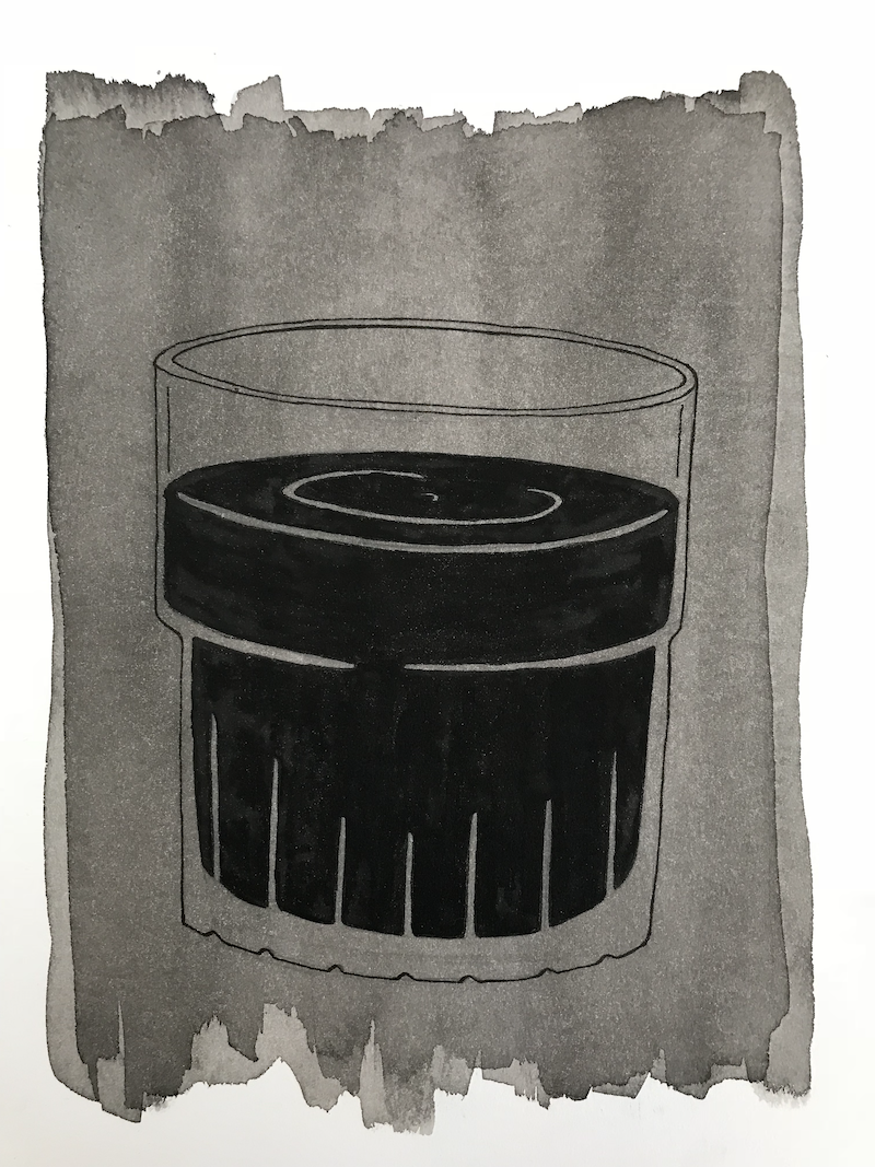 (CreativeWork) You can't drink Oil by Number Seven. drawing. Shop online at Bluethumb.