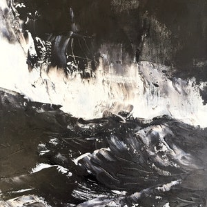 (CreativeWork) A Sudden Storm by Tiffany Blaise. oil-painting. Shop online at Bluethumb.