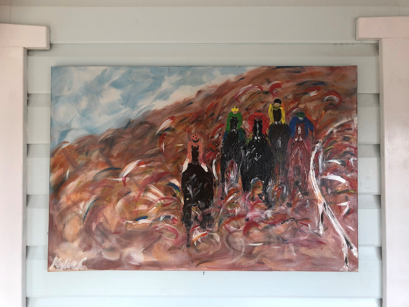 (CreativeWork) Outback Races by Kylie Chambers. arcylic-painting. Shop online at Bluethumb.